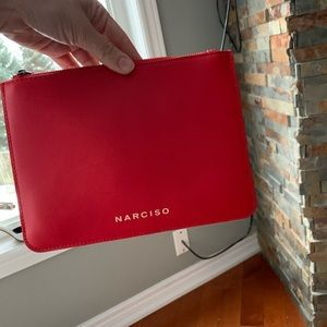 Handbags - Narciso red pouch